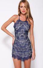 Lace Mini Dress, For Love And Lemon Inspired, Brand New, Pastel Orange, UK 6/XS