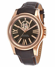 Accutron by Bulova 64A102 Men's Kirkwood Auto Brown Genuine Leather Watch