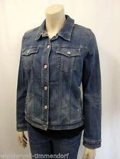 Jeansjacken mit klassischem Ausschnitt ohne Muster