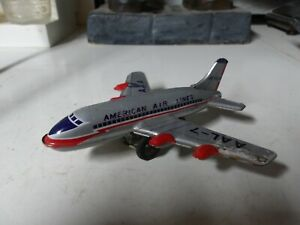 Vintage- Original 1960's Friction American Air Lines Toy Plane  S2 Made in Japan