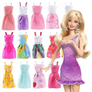 32pcs Dolls Clothes Shoes Handbag Glass Necklace Set Pieces Barbie Doll Uk Dress