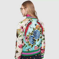 2017 womens srping Tops Butterfly Bird Flowers Embroidered Bomber Jacket Coat