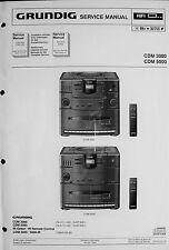 GRUNDIG Service-Manual für das Micro-System CDM 3000 und CDM 5000