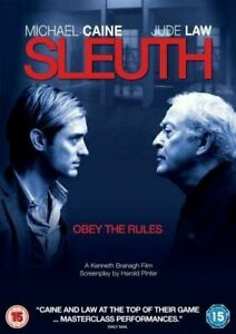 Sleuth DVD Re-Make - Michael Caine Movie 2007 Jude Law - Mystery Cat and Mouse
