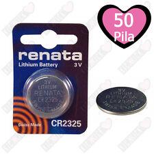 RENATA Batteria Litio 3V CR2325, Pulsante Batteria CR 2325 Pile A Bottone, 50PZ