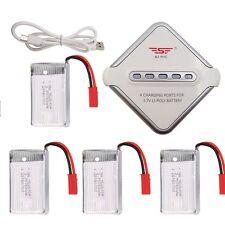 4 piezas 3.7v 750mah Batería + JST Cargador de Juego para MJX X400, X300C, X500,