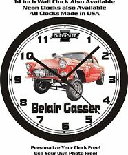 1955 CHEVROLET BELAIR GASSER WALL CLOCK-FREE USA SHIP!