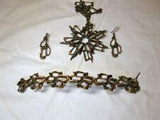 Knut P Norway Bronze Brutalist Pendant Bracelet Earrings Norwegian Scandinavian