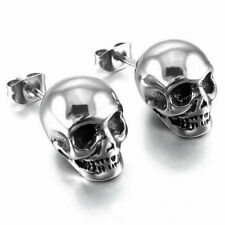 Men Punk Rock Goth Skeleton Skull Stud Earrings Fashion Women Jewelry
