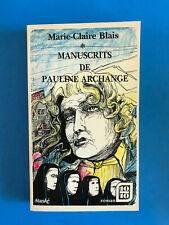 Manuscrits de Pauline Archange   Marie-Claire Blais