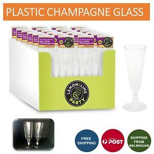 Disposable Plastic Champagne Flutes 130ml Wedding L&L Party  Glasses Glass Cup