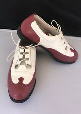 Footjoy Golf Shoes White Red Size 7 Europa