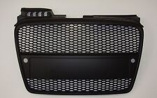 Audi A4 B7 2005-2008 Matte Black Grille RS Look w/ Sensor Hole Honeycomb