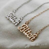 legierung kette miststück schreiben anhänger gold / silber vergoldet halskette