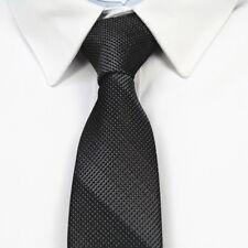 Black Patterned Handmade 100% Silk Skinny Wedding Tie