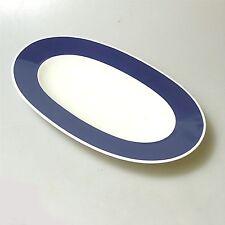 Rosenthal Form 200 ABC Platte Fleischplatte blauer Rand Baumann Entwurf