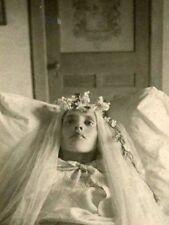 Antique Post Mortem Child Casket Photo 218 Bizarre Odd Strange