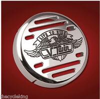 "Kawasaki Vulcan 500 VN 800 900 1500 - Chrome V-Twin 3-1/4"" Horn Cover"