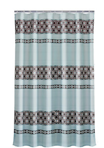 Mainstays Dimitri Striped Polyester Shower Curtain, 70x72 New