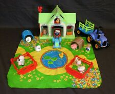 ELC HAPPYLAND FARM & LARGE TRACTOR BUNDLE WITH SOUNDS. PLAYSET FIGURES & ANIMALS