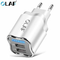 Dual 2Port USB 5V 2.1A EU/US Plug Home Travel Fast Charging Wall Charger Adapter