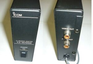 Icom TV-R7000 TV receive adapter and 12VDC power cord for R7000 receiver