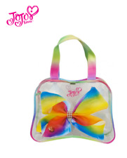Official Jojo Siwa Bow Shaped Tote Bag Kids Outdoors Fashion Rainbow 38 x 28 cm