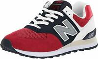 New Balance Men's 574 V2 Pebbled Sport Sneaker, Team Red/Pigment, Size 5.0