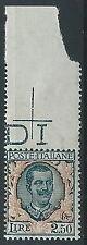 1926 REGNO FLOREALE 2,50 LIRE MNH ** - T146