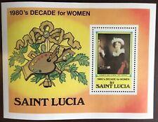 St Lucia 1981 Decade For Women Minisheet MNH