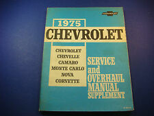 1975 Chevrolet Chevelle Camaro Nova Monte Corvette Service and Overhaul ST330-75
