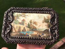 Antico Francese Tinta Unita Argento Per Cucire Set BOXED