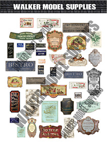 1/35 Scale Pre-Cut WW2 French building advertisement posters / signs. model set