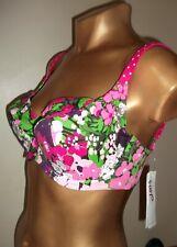 Donna FAT FACE pezzo di sotto del bikini BLU BIANCO nuoto piscina spiaggia indossare UK 14 BNWT