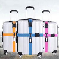 Adjustable Suitcase Cross Luggage Strap With Safe Lock Baggage Belt Travel Bag