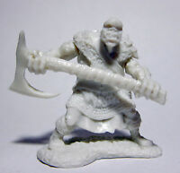 1 x BLACK ORC 2H AXE - BONES REAPER figurine miniature rpg jdr hache 77431