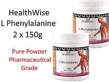 2 x 150g HealthWise L-Phenylalanine 300g  100% pure powder pharmaceutical grade