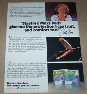 1979 print ad -Stayfree maxi-pads Gymnast girl CATHY RIGBY vintage Advertising
