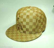 New Era 59Fifty Hat MLB Los Angeles Dodgers Mens Beige Brown 5950 Cap Size 6 7/8