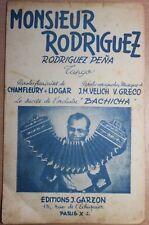 Partition ancienne-MONSIEUR RODRIGUEZ Musique de:L.M.VELICH