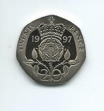 1997 Royal Mint Proof  20p  coin  taken from Royal Mint proof Set
