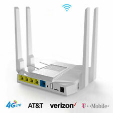 Unlocked 4G Lte Router At&T T-Mobile Verizon Sim Card Slot 1200Mbps Wifi Hotspot