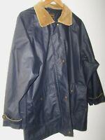 Vintage Eddie Bauer Outdoor Coat/Jacket Men's L Navy Polyvinyl Corduroy Collar