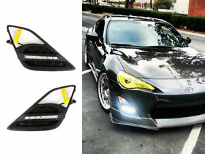 LED Fog Lamp Cover DRL Daytime Light Wire Kit For Toyota 86 Scion FR-S Subaru