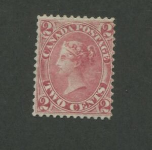 1864 Canada Stamp #20 2c Mint Hinged F/VF No Gum Queen Victoria