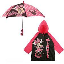 Disney Minnie Mouse Slicker and Umbrella Rainwear Set, Little Girls, Age 2-7