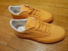 Reebook Club C 85 Womens Orange Canvas Trainers Size 7.5 Uk