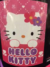 Hello Kitty Diamond Dot Flower Heart Pink Fleece Blanket