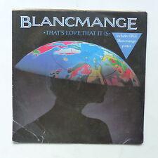 BLANCMANGE That's love that it is Pochette poster BLANC 6