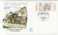 France 1988 Journey of Post Slogan Cancels Picture + Stamp FDC Cover Ref 31673